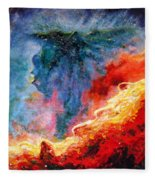 Swan Nebula Fleece Blanket