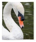 Swan Profile Fleece Blanket