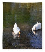 Swan Ripplle  Fleece Blanket