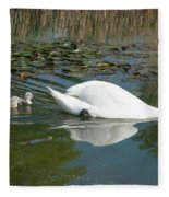 Swan Scenic Fleece Blanket