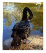 Swan Self Care Fleece Blanket