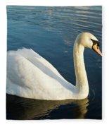 Swan Strutting Fleece Blanket