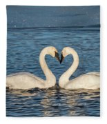 Swan Heart Fleece Blanket