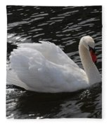 Swans Reflection Fleece Blanket