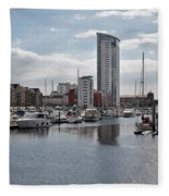 Swansea Marina Fleece Blanket