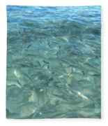 Swarming Fish Fleece Blanket