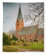 Swedish Brick Church Fleece Blanket