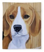 Sweet Beagle  Fleece Blanket