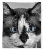 Sweet Blue Eyes Fleece Blanket