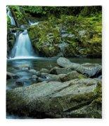 Sweet Creek Falls Fleece Blanket
