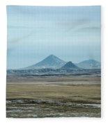 Sweet Grass Hills Pyramids Fleece Blanket