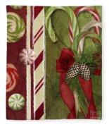 Sweet Holiday I Fleece Blanket