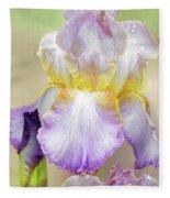 Sweet Iris Pastel Fleece Blanket