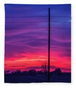 Sweet Nebraska Sunset 004 Fleece Blanket
