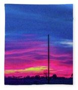 Sweet Nebraska Sunset 006 Fleece Blanket