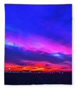 Sweet Nebraska Sunset 001 Fleece Blanket