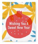 Sweet New Year Card- Art By Linda Woods Fleece Blanket