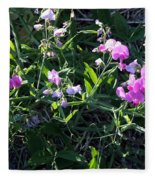 Sweet Pea In Tahoe Fleece Blanket