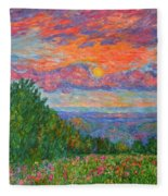 Sweet Pea Morning On The Blue Ridge Fleece Blanket