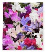 Sweet Pea Spencer Flowers Fleece Blanket