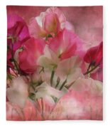 Sweet Peas Fleece Blanket