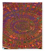 Sweet Pepper Melody Oval Abstract Fleece Blanket