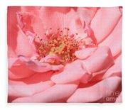 Sweet Pink Rose  Fleece Blanket