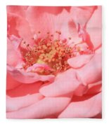 Sweet Pink Rose  Fleece Blanket