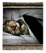 Sweet Simba Photo A8117 Fleece Blanket by Mas Art Studio