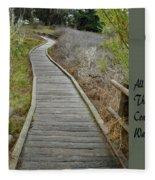 Sweet Springs Nature Preserve Text Fleece Blanket