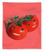 Sweet Tomatoes Fleece Blanket