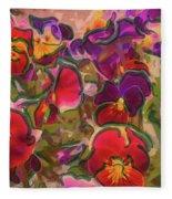 Sweet Viola Fleece Blanket