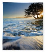 Swept Out To Sea Fleece Blanket
