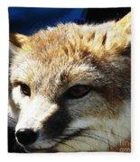 Swift Fox With Oil Painting Effect Fleece Blanket
