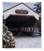 Swift River Bridge Conway New Hampshire Fleece Blanket