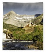 Swiftcurrent Falls Glacier Park Fleece Blanket