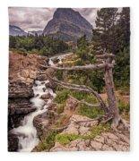 Swiftcurrent Lake Falls Fleece Blanket