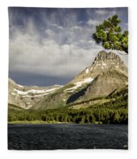Swiftcurrent Lake Fleece Blanket