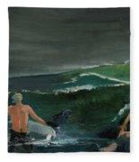 Swim At Your Own Risk Fleece Blanket