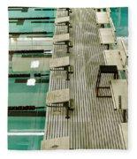 Swim Lanes Fleece Blanket