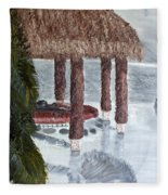 Swim To A Beach Bar Cool Huh Fleece Blanket