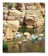 Swimming Hole At Slide Rock Fleece Blanket