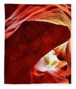 Swimming In Fire Fleece Blanket