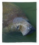 Swimming Manatee Fleece Blanket