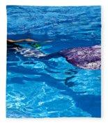 Swimming Mermaid Fleece Blanket