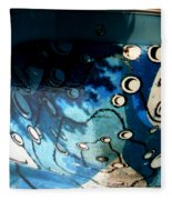 Swimming Pool Mural 2 Fleece Blanket