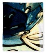 Swimming Pool Mural Detail 2 Fleece Blanket