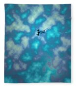 Swimming Through The Clouds Fleece Blanket