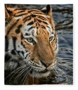 Swimming Tiger Fleece Blanket