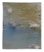 Swimming Turtles Fleece Blanket